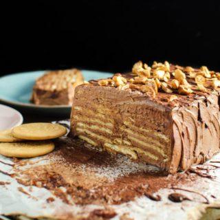 chocolate custard marie biscuit pudding Hot oven Sinhala Recipe