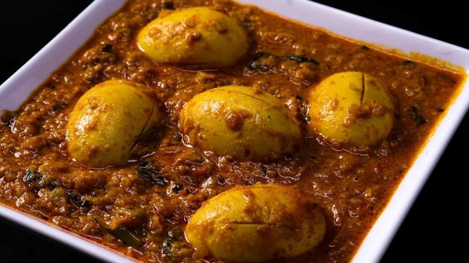 masala egg curry hot oven sinhala food recipe